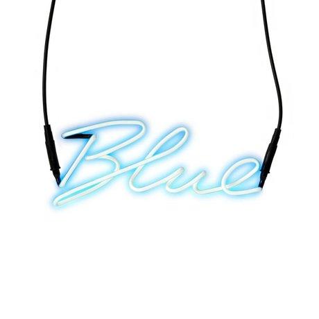 Seletti Wandlamp Neon Shades-blue blauw met transformator glas 30,5x12,3cm