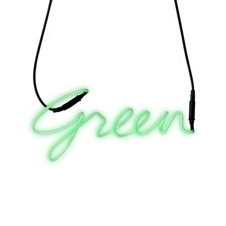 Seletti Wandlamp Neon Shades-green groen met transformator glas 34,9x15,7cm