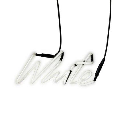 Seletti Applique Shades Neon blanc et blanc avec 29x12,3cm en verre de transformateur