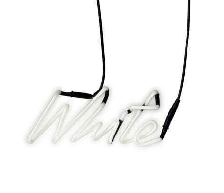 Seletti Wandlamp Neon Shades-white wit met transformator glas 29x12,3cm