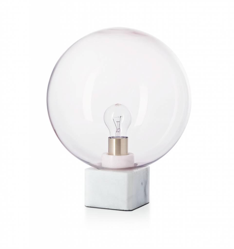 Fest Lampe De Table Muse Rose Marbre Verre 30x30x45cm Wonen