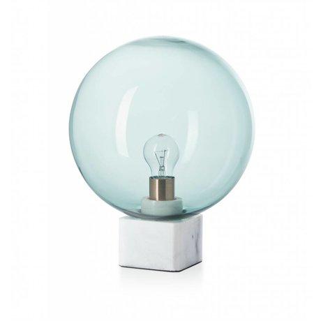 FEST Amsterdam Tafellamp Muse, grijs, marmer glas, 30x30x45cm
