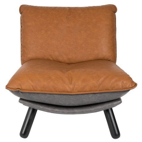 Zuiver Sessel Lazy Lounge Sack braun PU-Leder 75x94x81cm