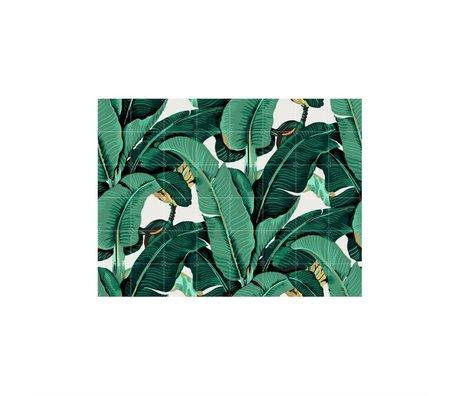 IXXI Décoration murale Banana Leaf multicouleur moyen papier 160x120cm