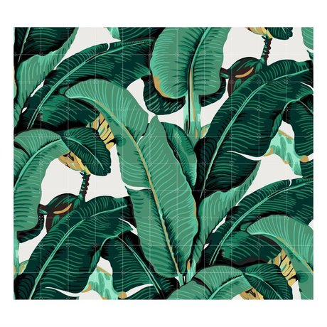 IXXI Wanddecoratie Banana Leaf large multicolour papier 220x200cm