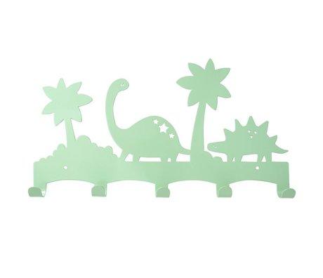 Eina Design Kapstok Dino mintgroen metaal 40x21,5cm