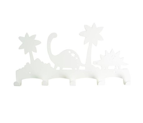 Eina Design Dino métal blanc porte-manteau 40x21,5cm