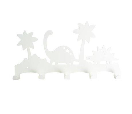 Eina Design Kapstok Dino wit metaal 40x21,5cm