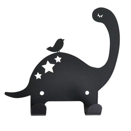 Eina Design Wandhaak Dino zwart metaal 15x15,5cm