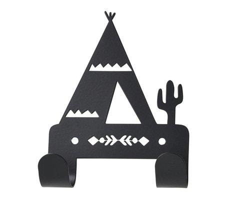 Eina Design Wandhaken Tipi black metal 10x14,5cm