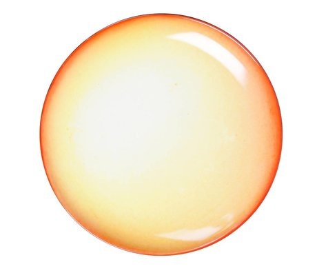 Seletti Diner bord zon geel porselein groot Ø36x3cm