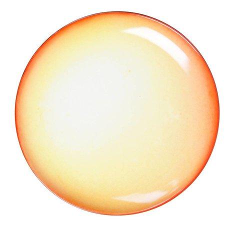 Seletti Teller Sonne gelb Porzellan großen Ø36x3cm