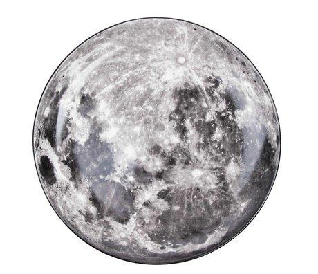 Seletti Mond weiße Porzellan-Teller grau Ø30x3,5cm