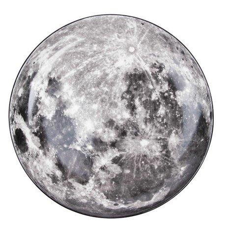 Seletti Lune porcelaine blanche dîner plaque grise Ø30x3,5cm