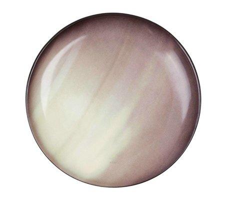 Seletti Dessertteller Saturn braun Porzellan Ø16,5x2cm