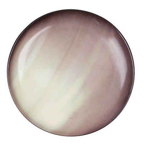 Seletti Dessert plate Saturn brown porcelain Ø16,5x2cm
