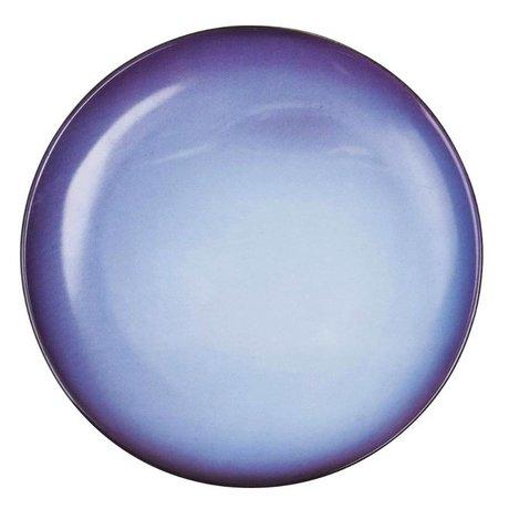 Seletti Dessertteller Neptun blau Porzellan Ø16,5x2cm
