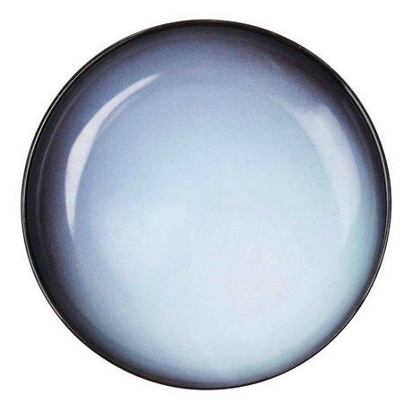 Seletti Deep plate Uranus blue porcelain Ø23,5x3,5cm