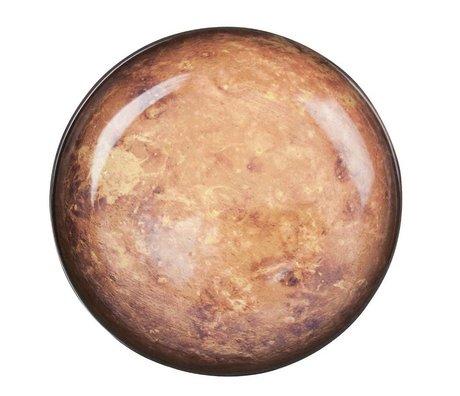 Seletti Diep bord Mars bruin geel porselein Ø23,5x3,5cm