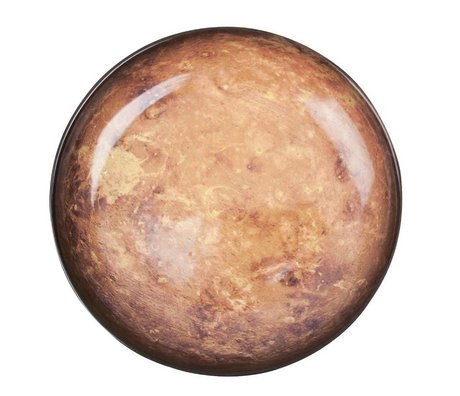 Seletti Tiefer Teller Mars braun Porzellan Ø23,5x3,5cm