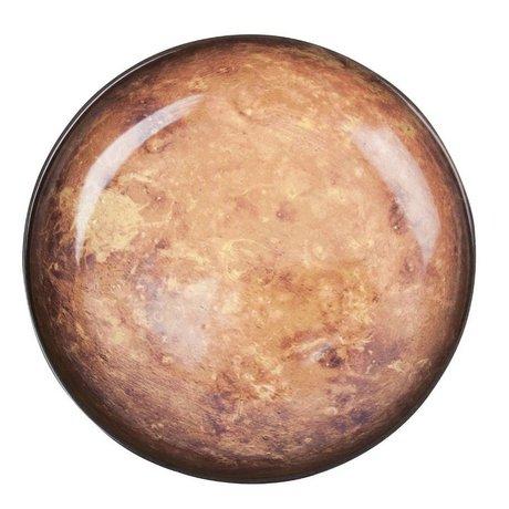Seletti Deep plate Mars brown porcelain Ø23,5x3,5cm