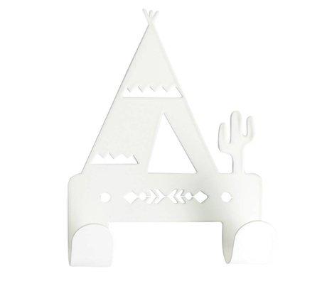 Eina Design Wandhaken Tipi weißes Metall 10x14,5cm
