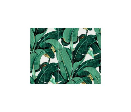IXXI Wanddecoratie Banana Leaf small multicolour papier 100x80cm