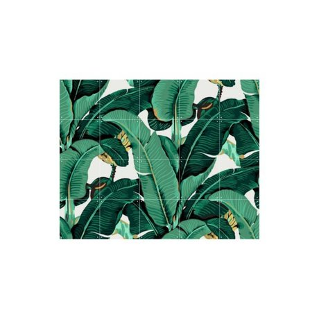 IXXI Décoration murale Banana Leaf petite multicolore papier 100x80cm