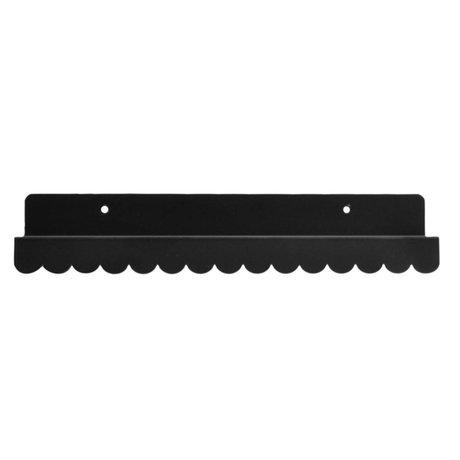 Eina Design Wandregal schwarz Metall 29x9cm