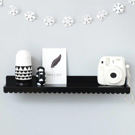 Eina Design Wandregal schwarz Metall 50x9cm