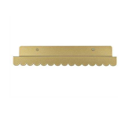 Eina Design Wandplank goud metaal 29x9cm
