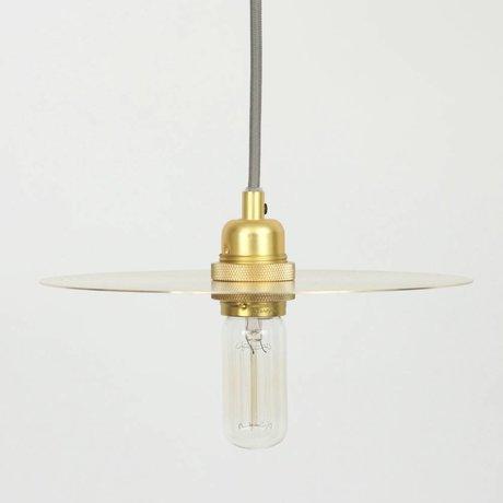 Frama Kreis Hängelampe aus Messing Metall mit Gold Glas E27 M Ø25cm