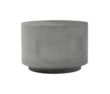 Housedoctor Table fifty gray fiberglass clay 50x50x35cm