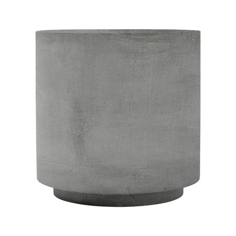 Housedoctor Table fifty gray fiberglass clay 50x50x50 cm