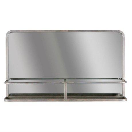 BePureHome Miroir Reflet 85x18x52cm en métal noir