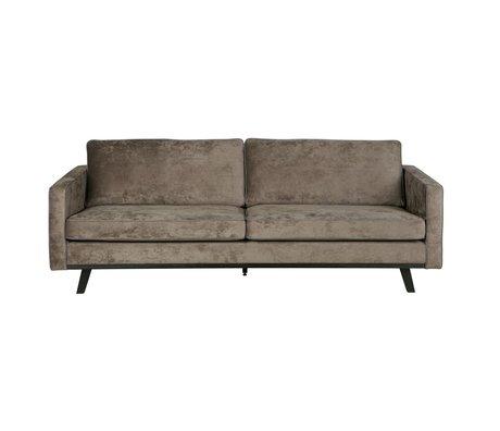 BePureHome 3-Sitzer Rebel braun Polyester Holz 230x86x85cm