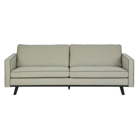 BePureHome 3-zits bank Rebel groen polyester hout 230x86x85cm