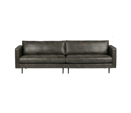 BePureHome 3-seater sofa Rodeo classic black leather 275x88x83cm