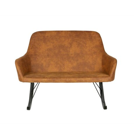 BePureHome Couch Roll-Cognacbraun Polyester 126x98x89cm