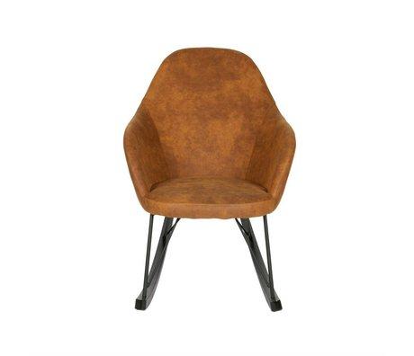BePureHome Schommelstoel Rock cognac bruin polyester 98x67x89cm