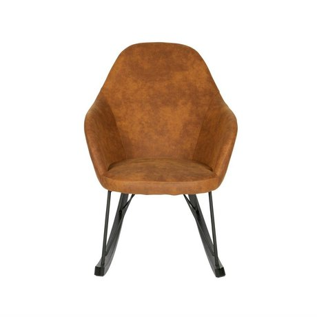 BePureHome Rocking Rock cognac brown polyester 98x67x89cm