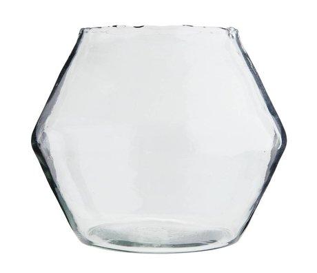 Madam Stoltz Vase transparent glass Ø25x28cm