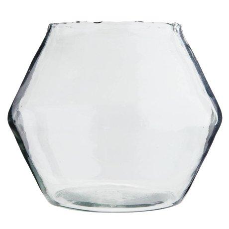 Madam Stoltz Vase transparentes Glas Ø25x28cm