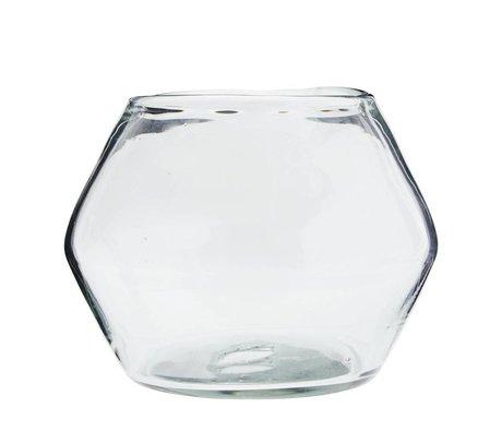 Madam Stoltz Vaas transparant glas Ø20x24cm
