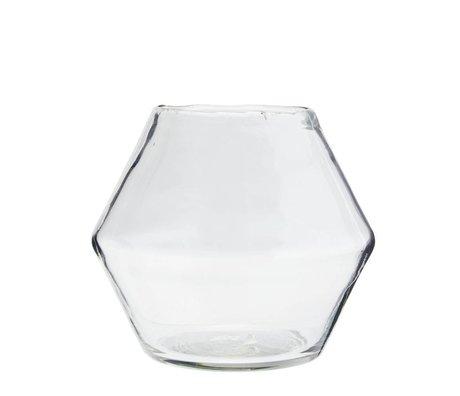 Madam Stoltz Vaas transparant glas Ø19x16cm