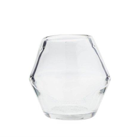 Madam Stoltz Vaas transparant glas Ø12x12cm