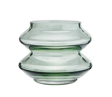 Madam Stoltz Vaas stapelbaar groen glas Ø13,5x10,5cm