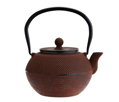 Madam Stoltz Teapot burgundy cast Ø16x22cm