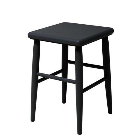 HK-living Krukje Retro zwart hout 32x32x47cm
