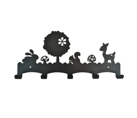 Eina Design Woodland black metal coat rack 40x19cm